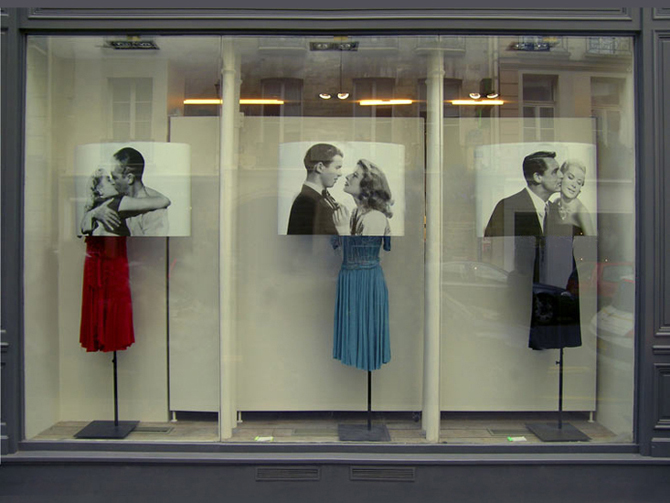 Hollywood Kiss / vitrines Isabel Marant / Emilie Faïf